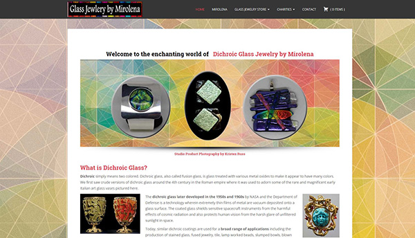 Dichroic Glass Jewelry by Mirolena