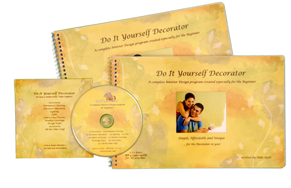 Do It Yourself Decorator Guidebook and DVD with Paper Jacket Artwork