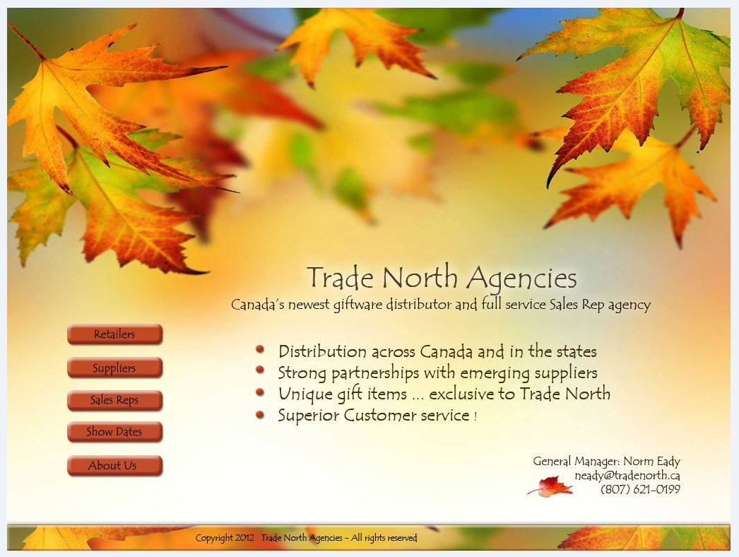 Trade North, Canada Landing Page Artwork