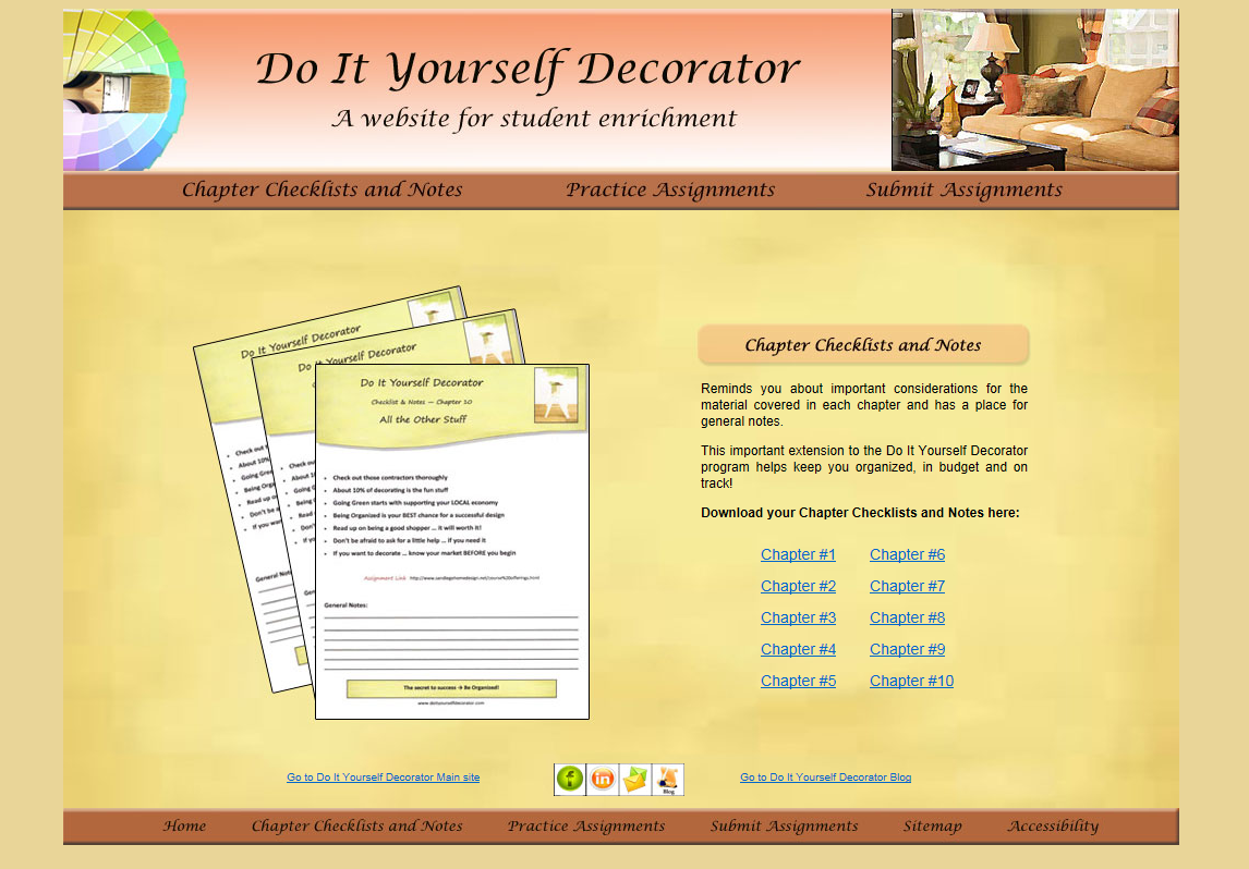 Do It Yourself Decorator Chapter Checklist Page
